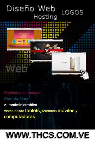 páginas web + tiendas virtuales(oferta) + hosting + admin