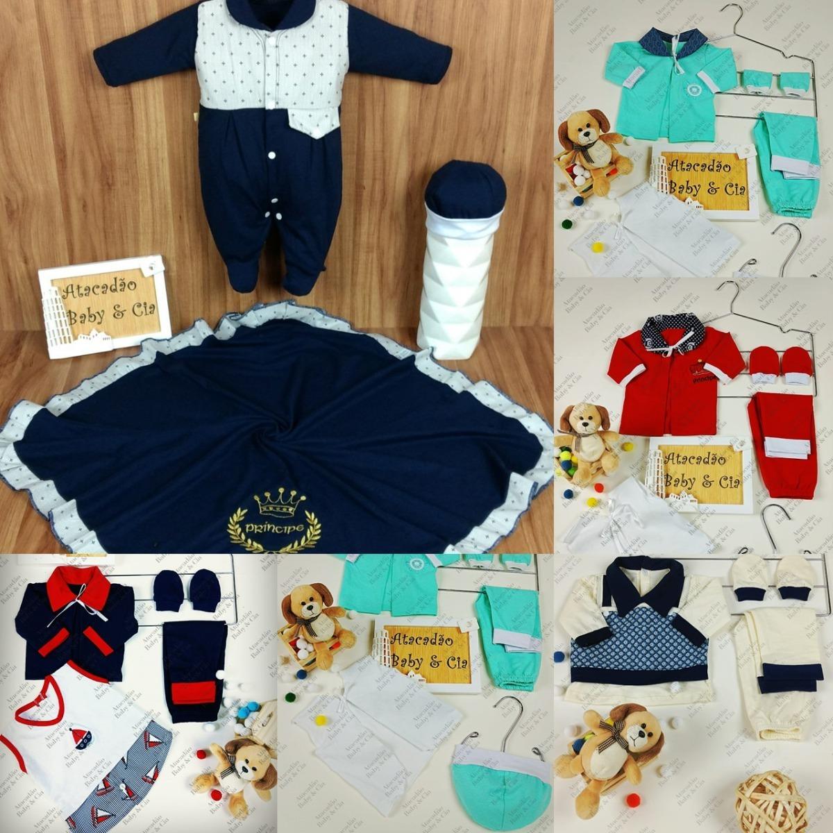 49e9af73ab2d12 Pagão Bebe Kit 4 Conjuntos + Saida Maternidade 100% Algodão
