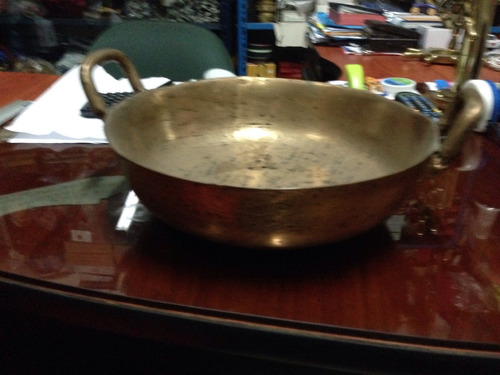 paila de bronce antigua