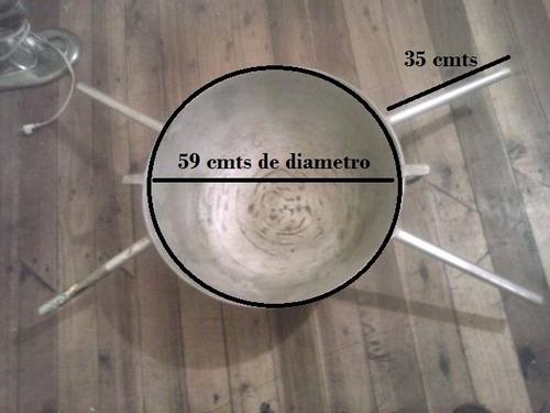 paila industrial grande de aluminio