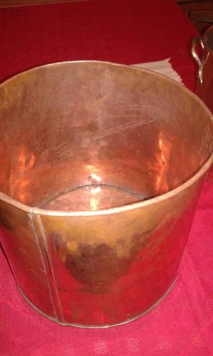 paila olla de cobre antigua 30 cm por 30 cm