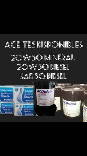 pailas 20/50 mineral, diesel 50, 15/40 diesel