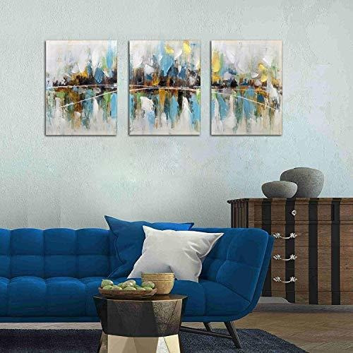 paimuni moderno abstracto colorido lienzo pared arte 3 panel