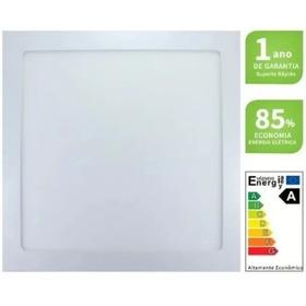 Painel 18w Quadrado Embutir 6000k Branco Frio Bivolt Plafon