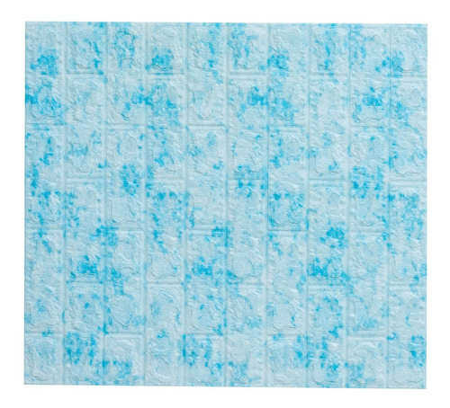 painel 3d revestimento adesivo tijolo azul 76 x 69cm