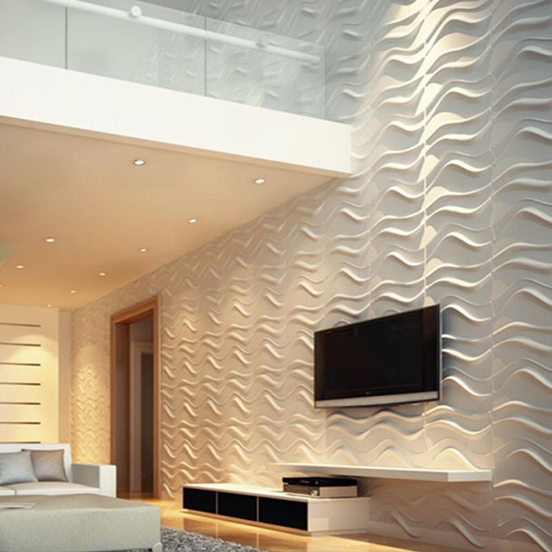 Painel 3d revestimento de parede dunas pvc 50x50 12pcs 3m2 - Pvc para paredes ...