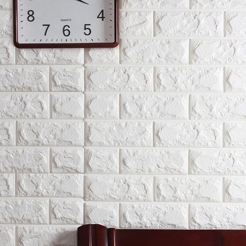 painel 3d tijolo branco 77 x 70 auto adesivo c/ nfe promoção