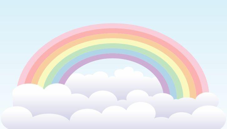 Painel Aniversario Infantil Ceu Arco Iris E Nuvens 3x1 7m R 119