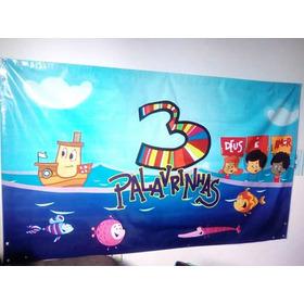 Painel Banner 3 Palavrinhas Bem Conservado