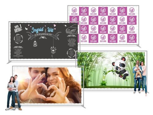 painel banner personalizado backdrop chalkboard 2x2 mts