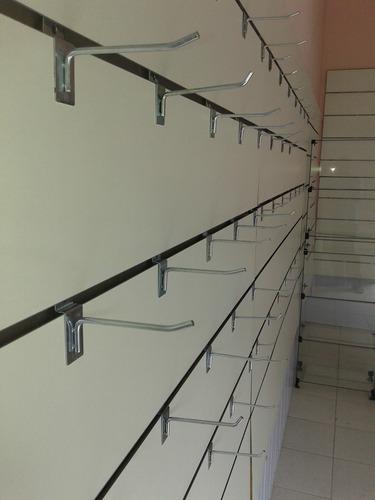 painel canaletado mdf 1,20x60 cm oferta com 30 ganchos 20cm
