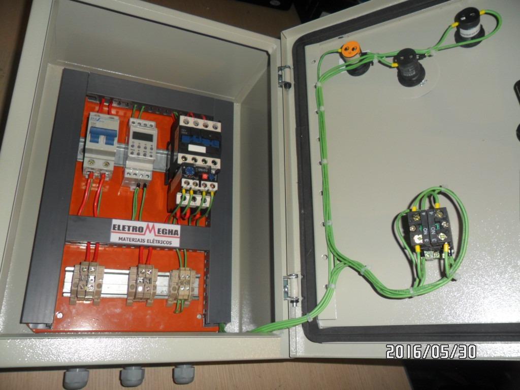 painel comando p   motores e bombas 10cv 220v trifasico