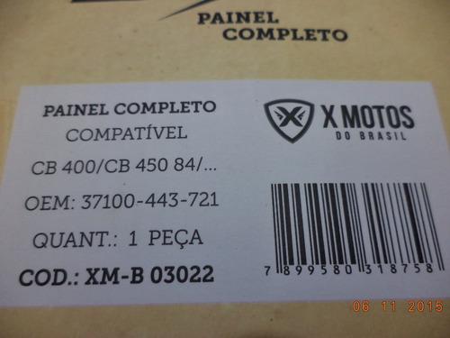 painel completo cb 400 / 450 1984 / 1994 + brinde emblema