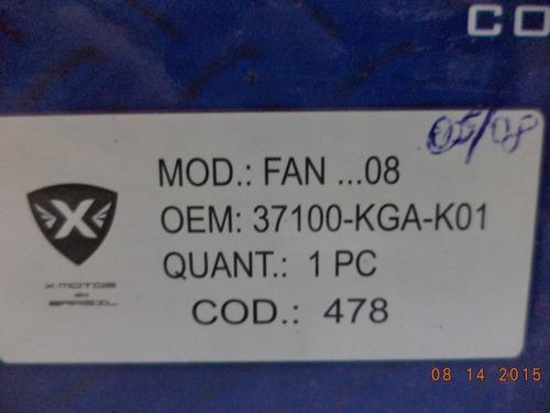 painel completo fan 125 2008 - escrito fan