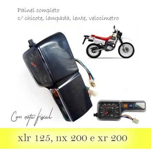 painel completo xlr 125 2001 alta qualidade c/ nota fiscal