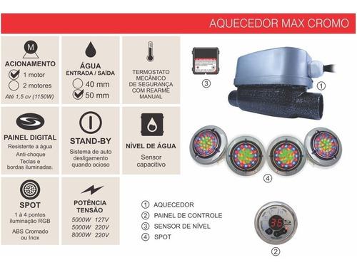 painel  controlador aquecedor  max cromo hidro sinapse