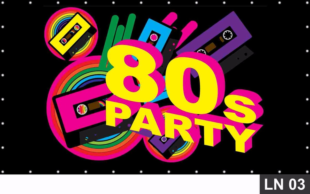 Painel de festa anos 80 painel 3 00x1 60m decora o r for 80 s house music songs