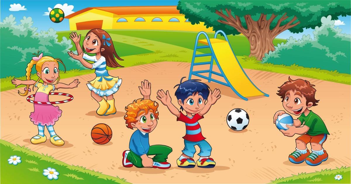 Painel De Festa Brincadeira De Criança 100x070 Cm R 3990 Em