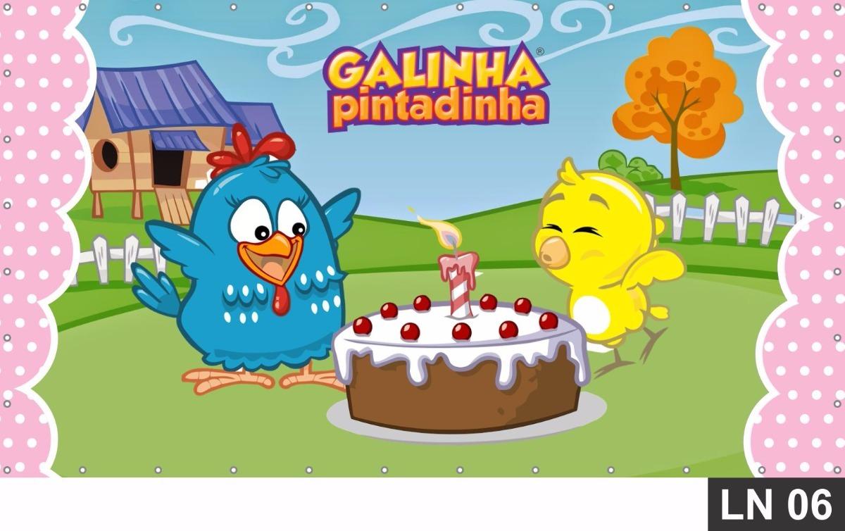 Painel De Festa Galinha Pintadinha Rosa 2x1 Frgrátis Banner R 99