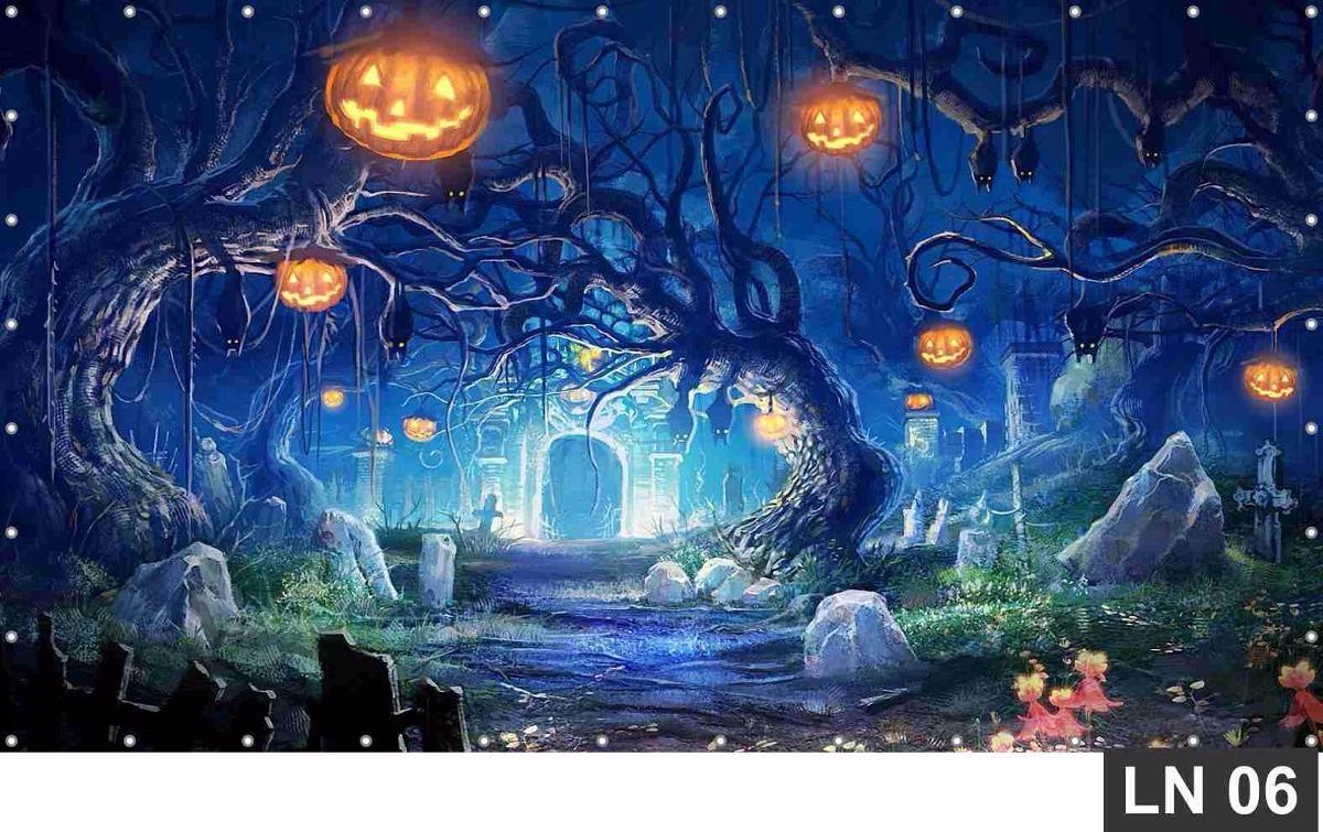 Decoracao De Halloween Para Festa De Aniversario.Painel De Festa Halloween 3 00x2 00m Decoracao Aniversario