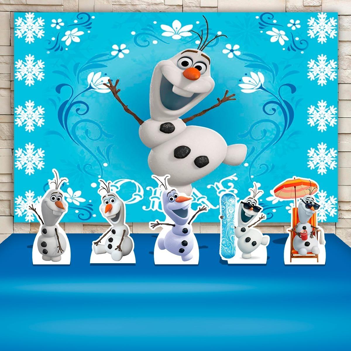 Painel De Festa Infantil Olaf Frozen Cenarios R 64 35 Em