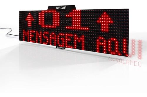 painel de guichê com seta e mensagem, caixa rápido, s/ fio