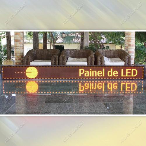 painel de led letreiro digital 3m x 40cm wifi à prova dágua