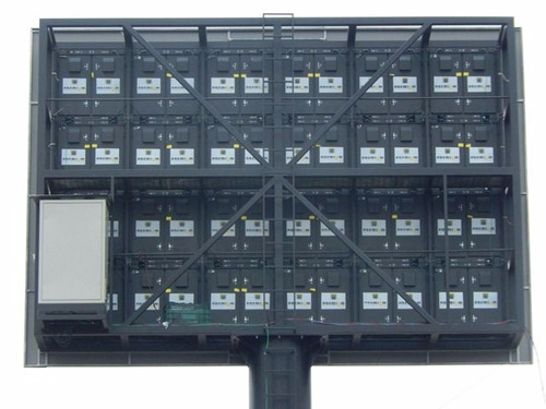painel de led outdoor modelo p12 c/ estrutura metálica
