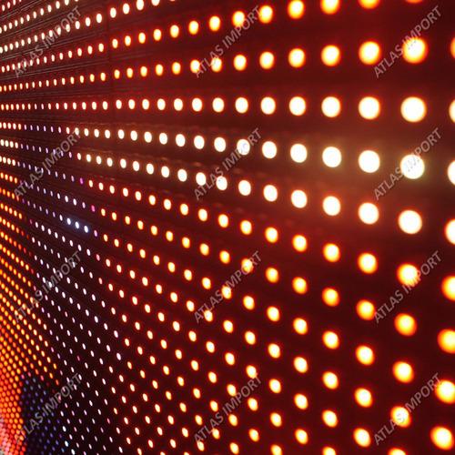 painel de led p10 full color 167cm x 60cm vídeos externo