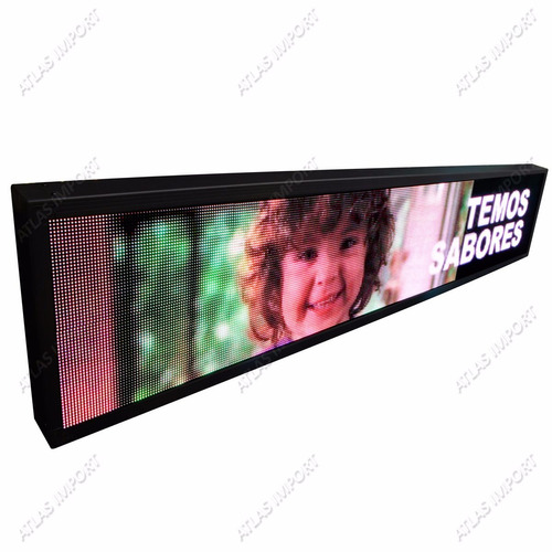 painel de led p5 de 135 x 40cm full color suporta vídeos rgb