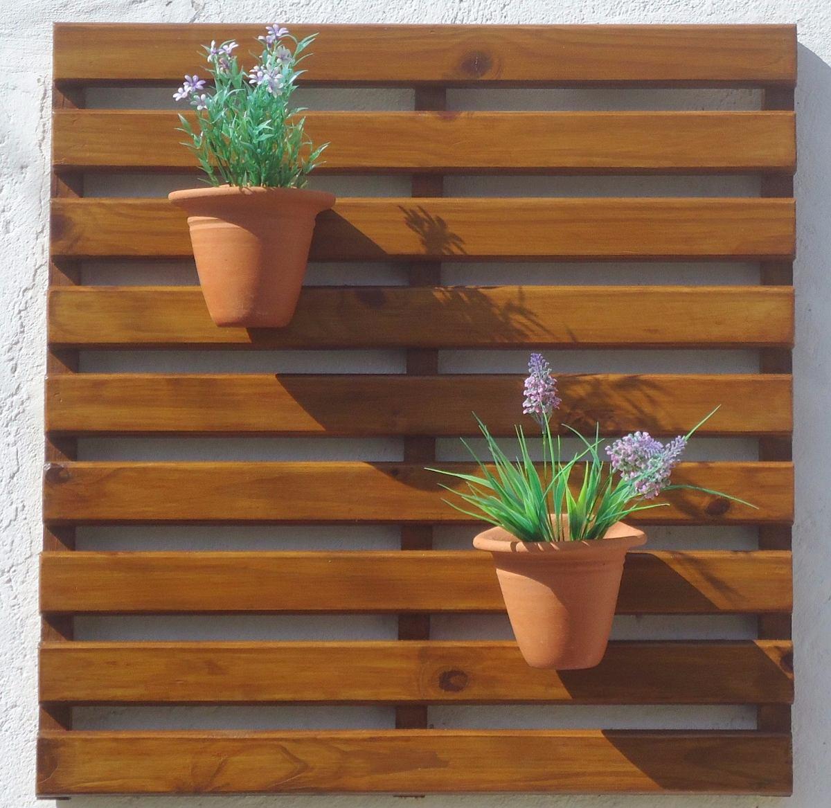 Painel De Madeira Para Jardim Vertical 75 (l) X 71 (a) Cm R$ 79 90  #986433 1200x1167