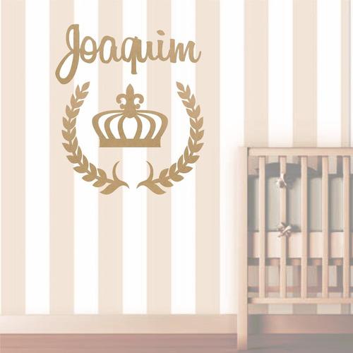 painel de parede mdf cru príncipe decoração quarto bebê