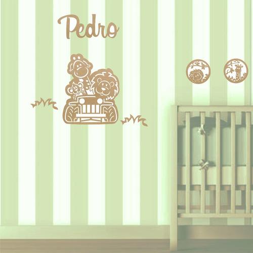 painel de parede mdf cru safari decoração quarto bebê