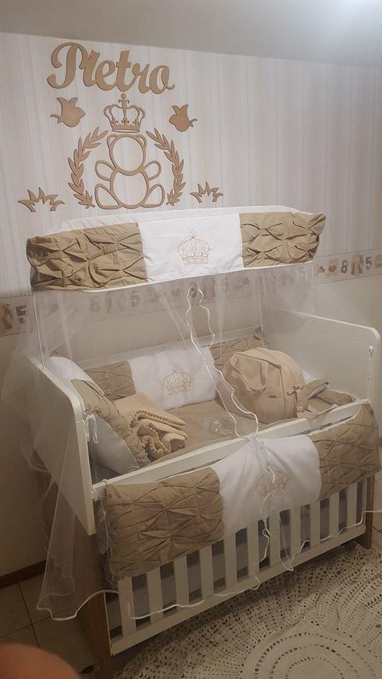 Painel De Parede Mdf Cru Urso Príncipe Decoração Quarto Bebê  R$ 89,90 em Me