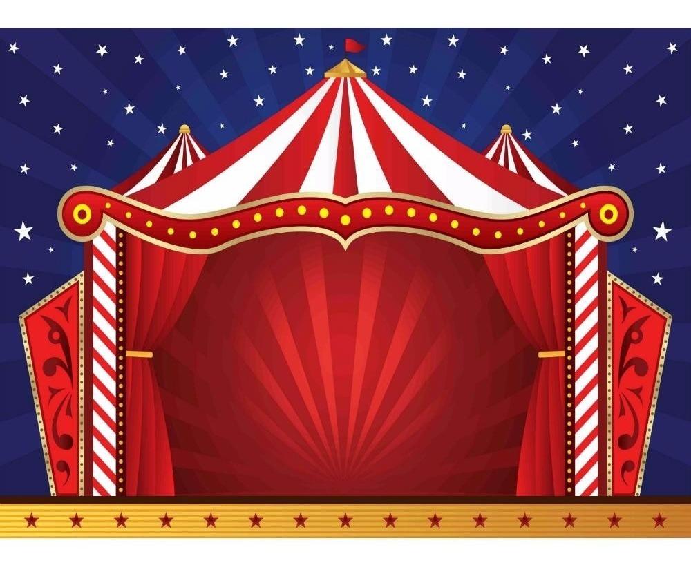 Painel De Tecido Sublimado Tenda Circo 002 180x120cm R 86 90