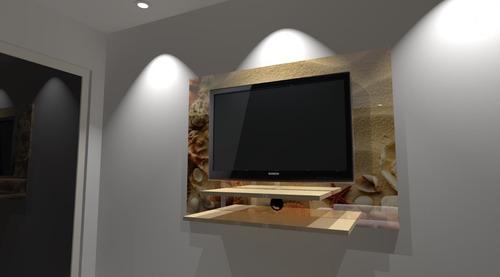 painel de tv 42' em porcelanato líquido.