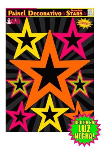 painel decorativo estrelas neon