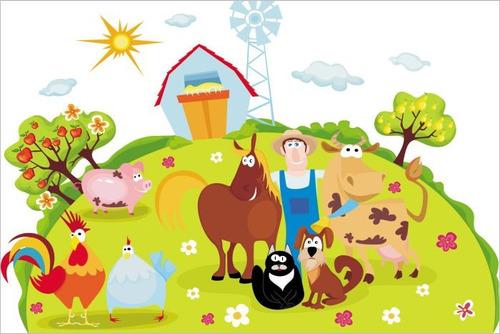 painel decorativo festa infantil fazendinha encantada (mod5)