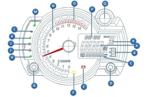 painel digital universal koso rx2n
