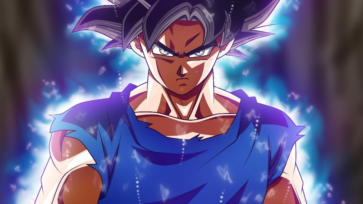 Painel Dragon Ball Super Goku Instinto Superior 130 X 80 Cm