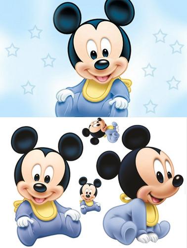 painel em lona  2,00 x 140 + 4 display mickey baby