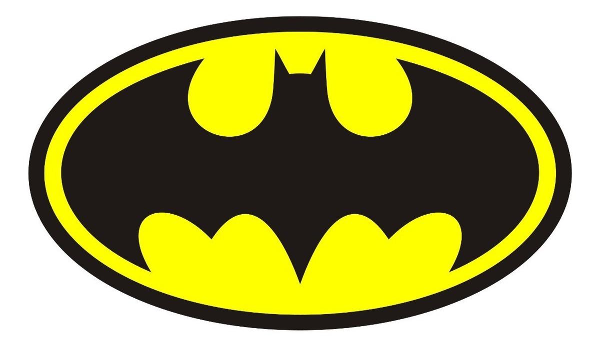 Painel Em Lona Batman 2x1 50 Ref Simbolo Amarelo 48h R 78 27