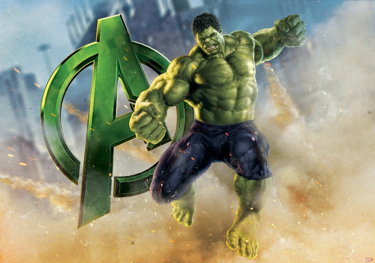 Incrivel Hulck Pretty painel em lona fosca - incrível hulk 7 2,00x1,50. envio 48hs - r
