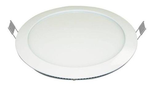 painel embutir led redondo 25w 3000k branco quente