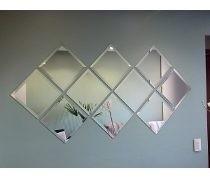 painel espelhos bisote quadrado
