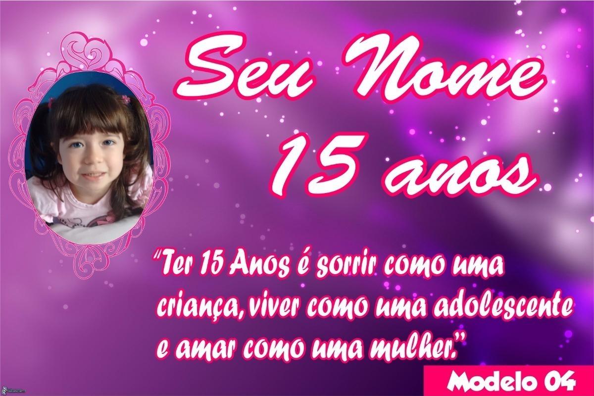 Painel Festa Lona Aniversário 15 Anos Nome Foto Frase Mulher R 75
