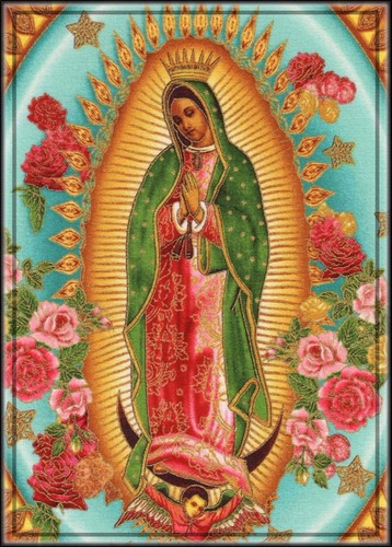 painel foto hd papel 65x100cm festa mexicana n. s. guadalupe