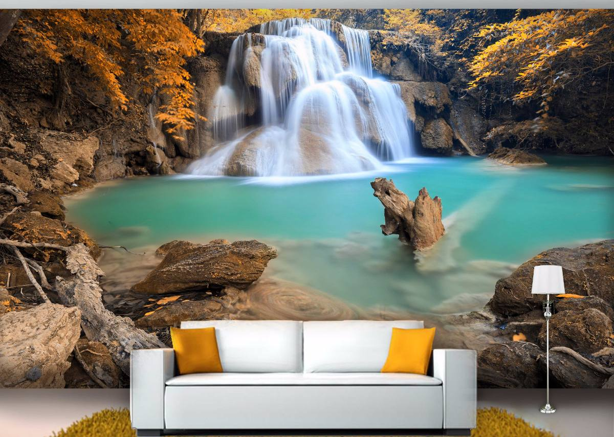 Painel Fotografico 3d Paisagem Cachoeira Diversas Imagens M