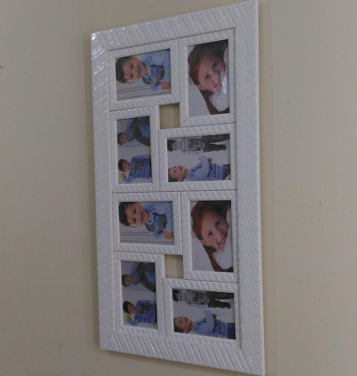 Painel Fotos Porta Retrato Quadro Mural Parede Sala R 147 20 Em  -> Mural Parede Sala