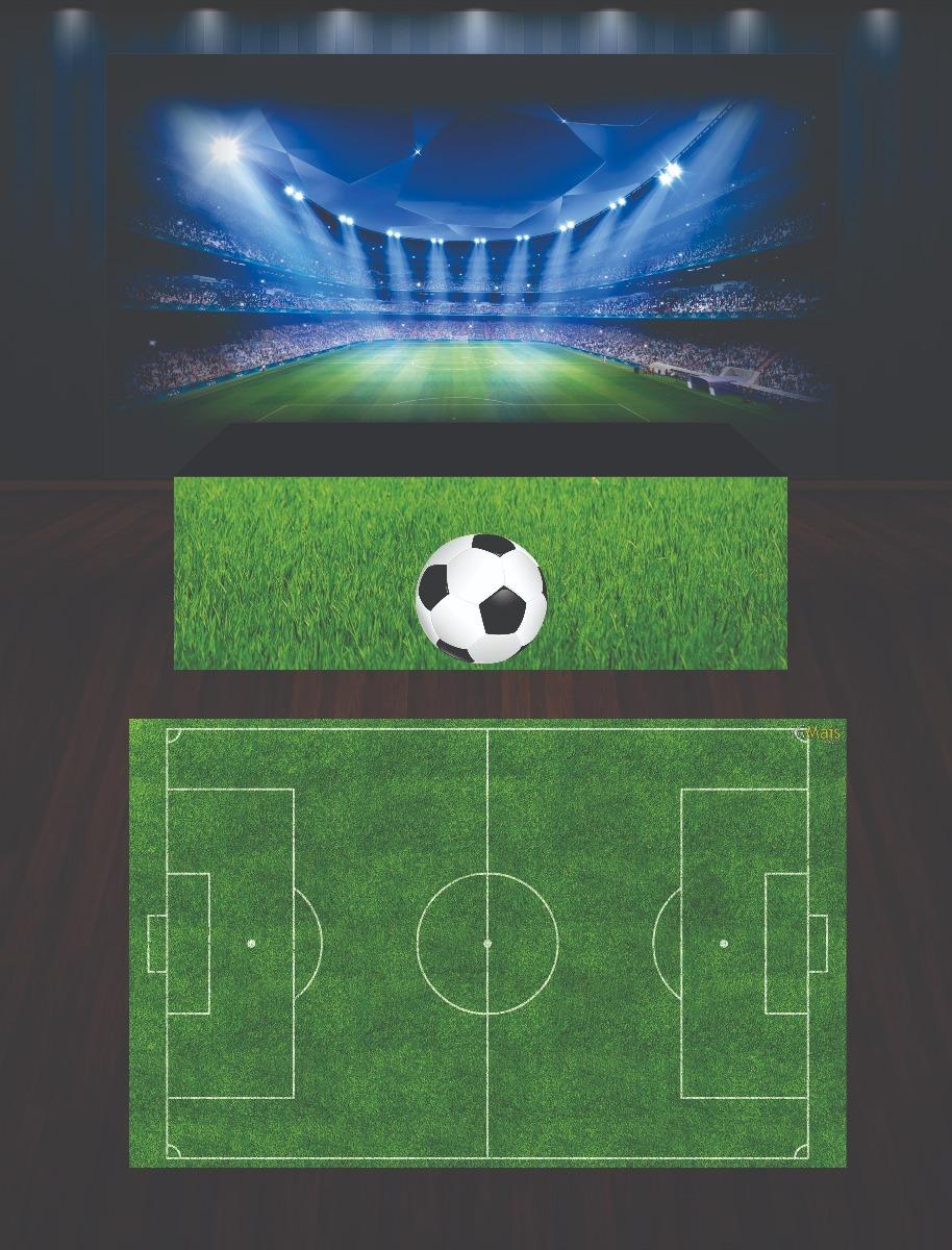 Painel Futebol + Saia Mesa + Tapete 2x1 f5da3a28727e3